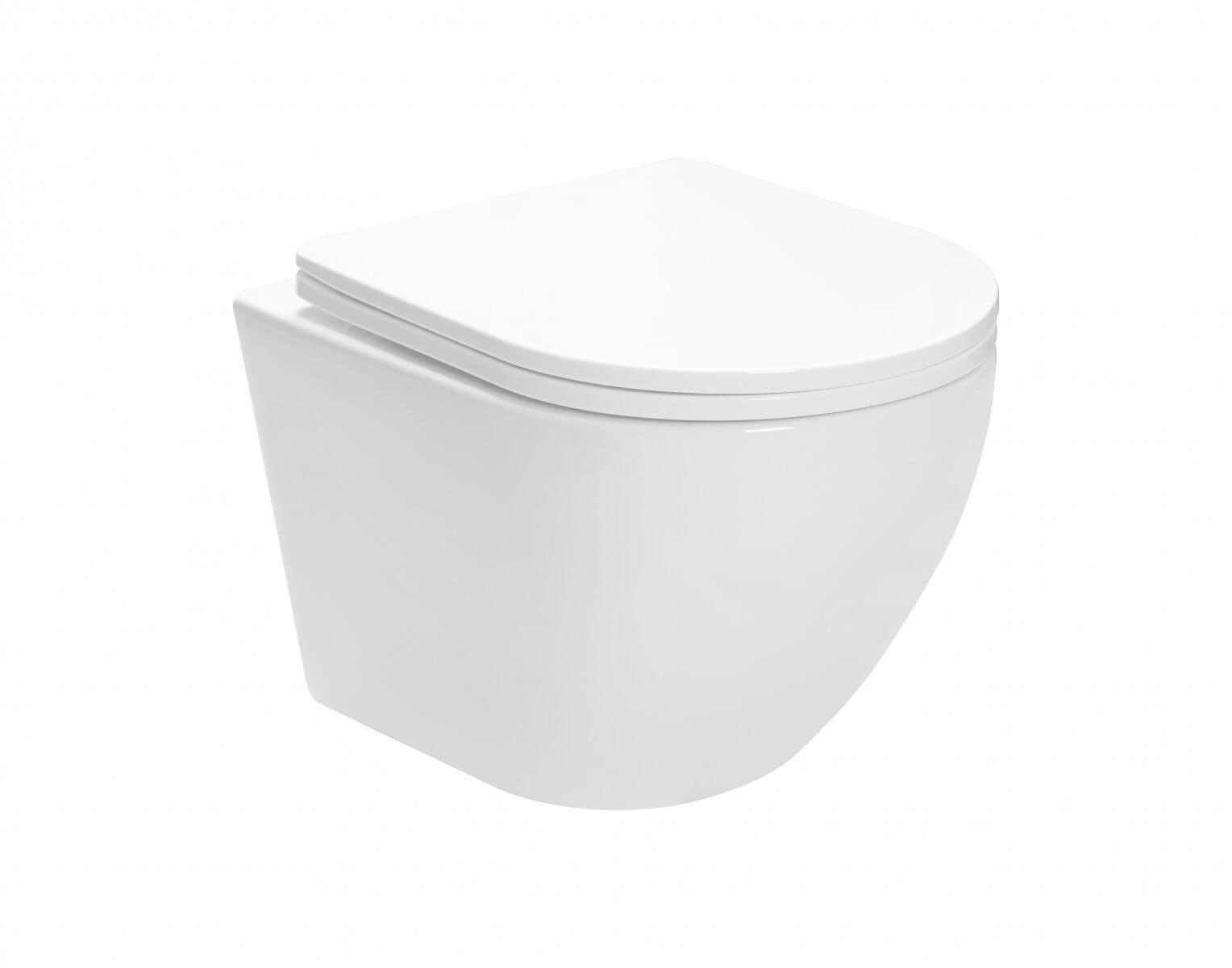 Miska WC podwieszana z deską Carlo Mini Rimless Basic Rea (REA-C6200)