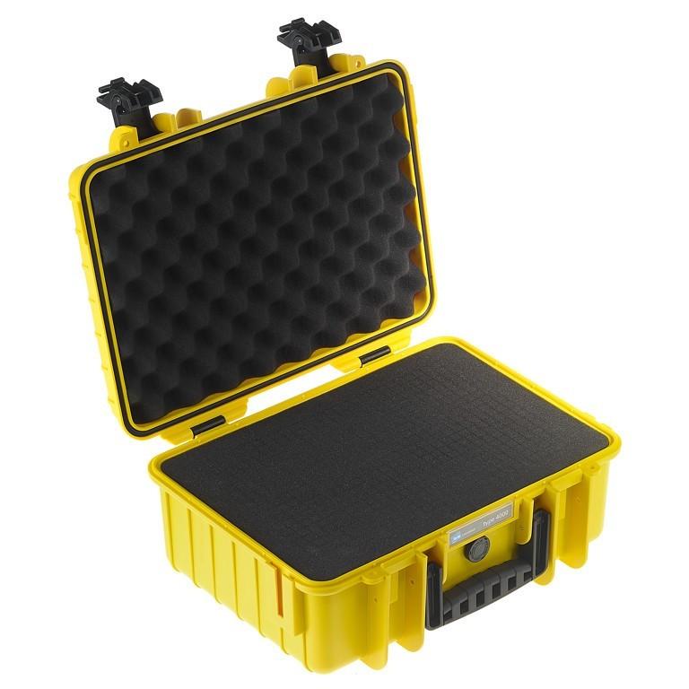 Walizka transportowa B&W outdoor.cases Typ 4000 SI z gąbką Żółta