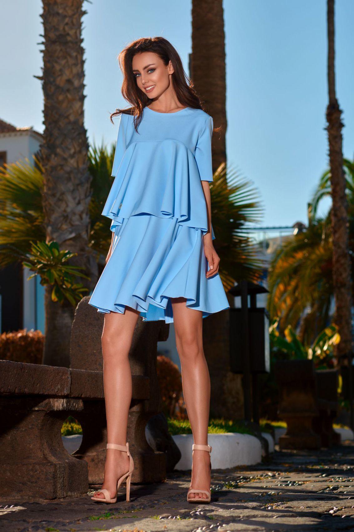 1 Komplet bluzka i spódnica L238 błękitny PROMO