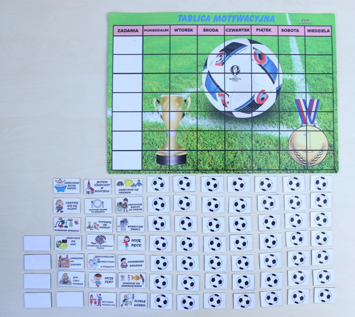 Magnetyczna tablica motywacyjna - piłkarska przygoda
