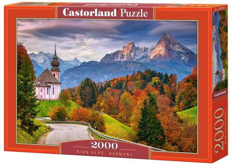 Puzzle 2000 Jesień w Alpach Bawarskich, Niemcy - Castorland