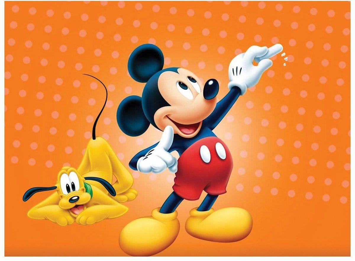 Dekoracyjny opłatek tortowy Myszka Miki - A4