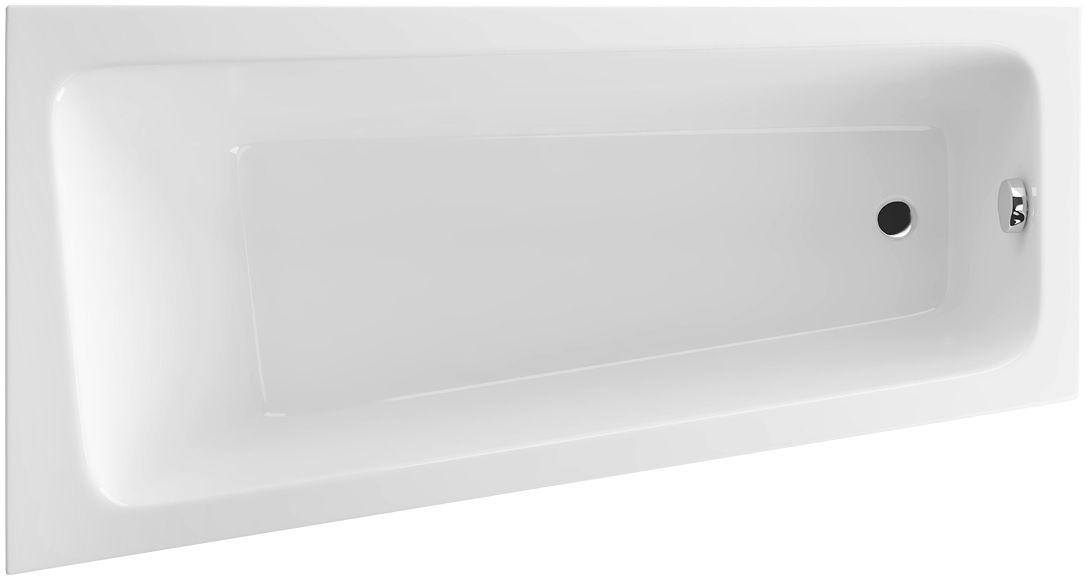 Wanna asymetryczna Excellent AVA SIDE 150x80 biała z nogami lewa WAEX.AVL15WH