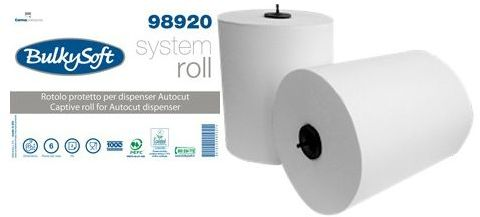 Ręcznik w roli autocut BulkySoft 2w.150 m. biały, celuloza