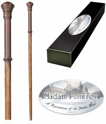 The Noble Collection - Madam Pomfrey Character Wand - 13in (32cm) High Quality Wizarding World Wand With Name Tag - Harry Potter Film Set Movie Props Wands