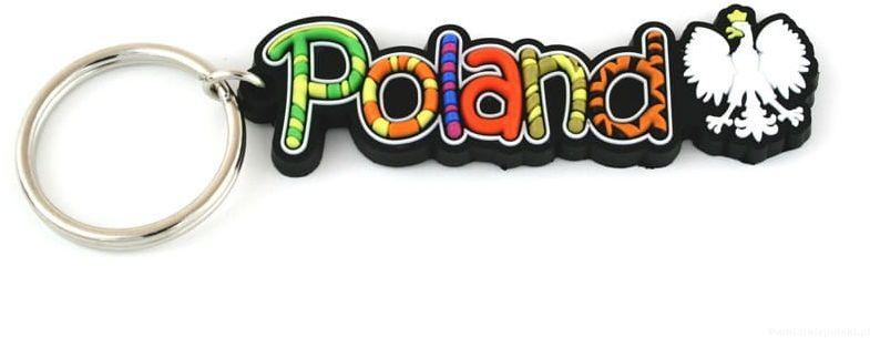 Brelok gumowy napis Poland