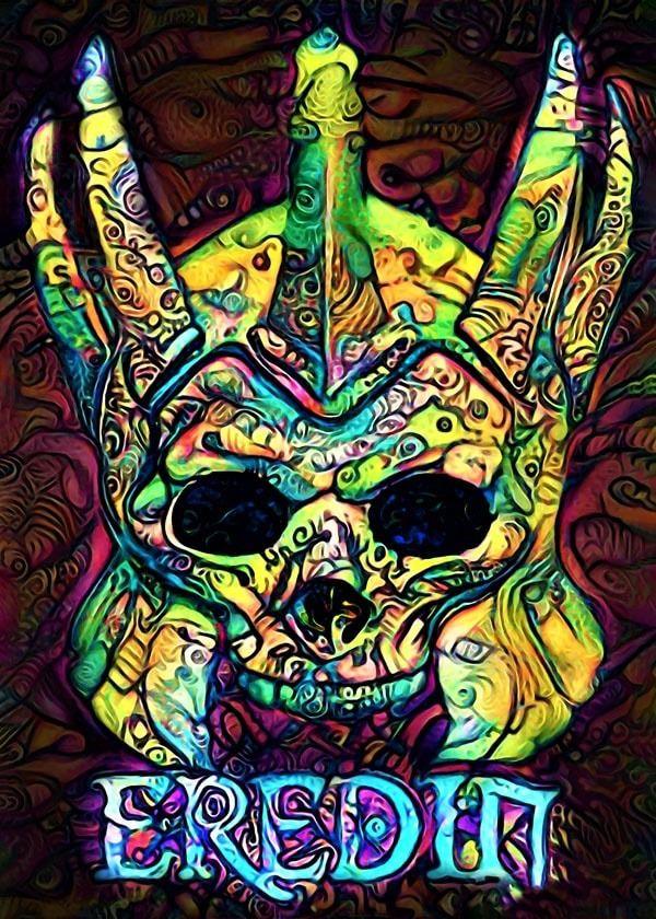 Psychoskulls, eredin, the witcher wiedźmin - plakat wymiar do wyboru: 70x100 cm