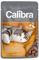 CALIBRA CAT NEW PREMIUM ADULT DUCK & CHICKEN 100G