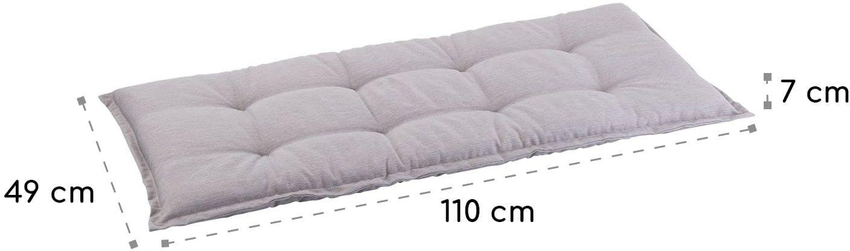 Blumfeldt Naxos, poduszka na ławkę, rdzeń piankowy, poliester strukturalny, 110 x 7 x 49 cm