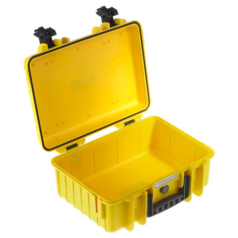 Walizka transportowa B&W outdoor.cases Typ 4000 bez wypełnienia Żółta