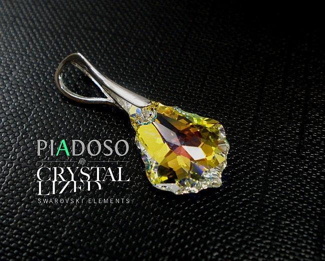 Kryształy wisiorek kolory certyfikat SREBRO