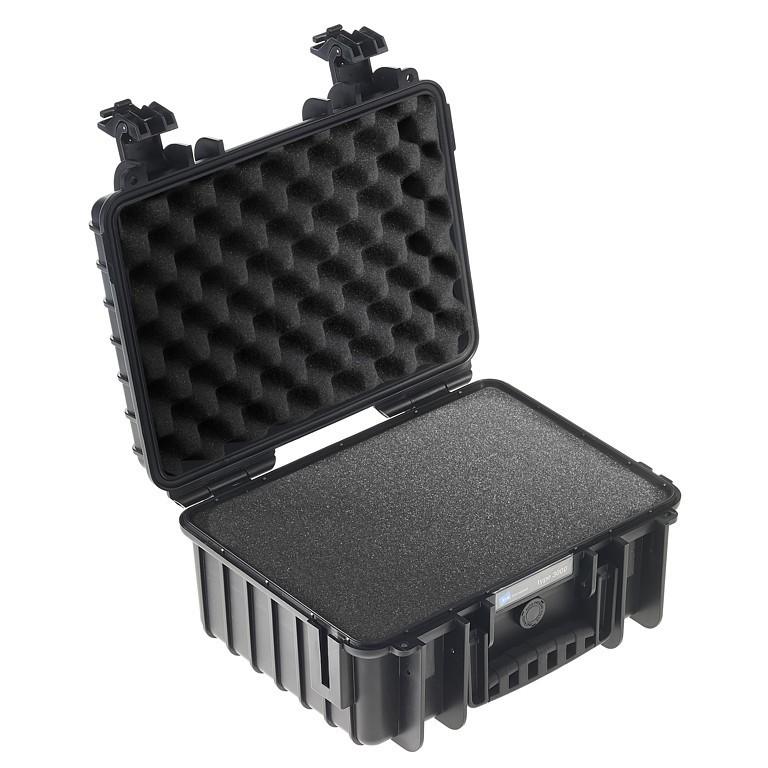 Walizka transportowa B&W outdoor.cases Typ 3000 SI z gąbką czarna