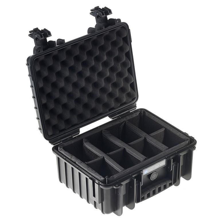 Walizka transportowa B&W outdoor.cases Typ 3000 RPD z przegrodami czarna