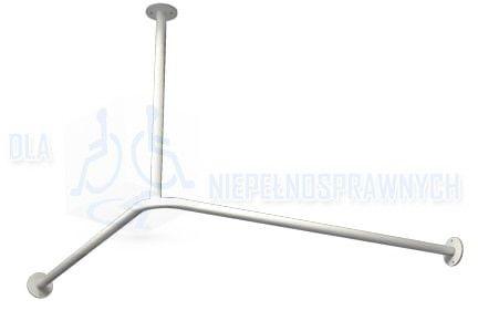 Uchwyt do zasłony prysznicowej, UP90, dla niepełnosprawnych, mocowany do ściany i sufitu, przy prysznicu