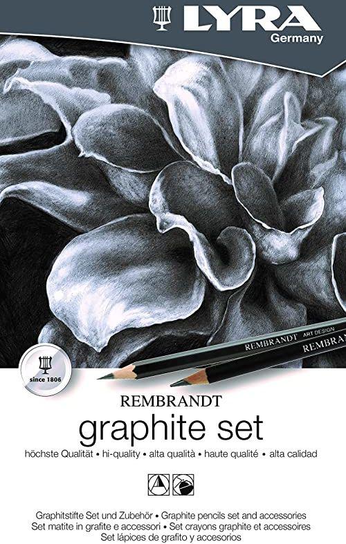 Lyra Rembrandt zestaw grafitowy, 4B, B, HB, F, 8B, 6B