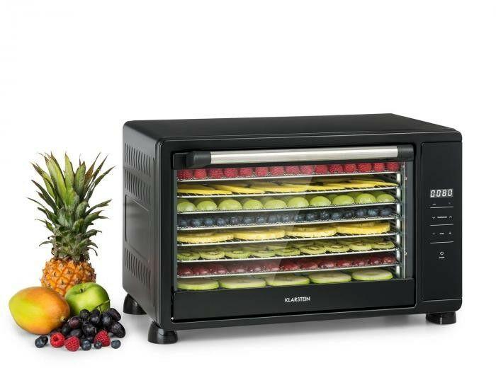 Klarstein Mega Jerky, automat do suszenia, 650 W, 3580 C, wyświetlacz dotykowy LC, timer, 8 poziomów
