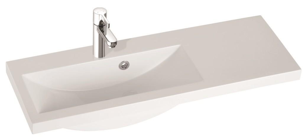 Marmorin umywalka nablatowa Talia 90L, 90 cm lewa bez otworu biała 270090722010 __DARMOWA DOSTAWA__