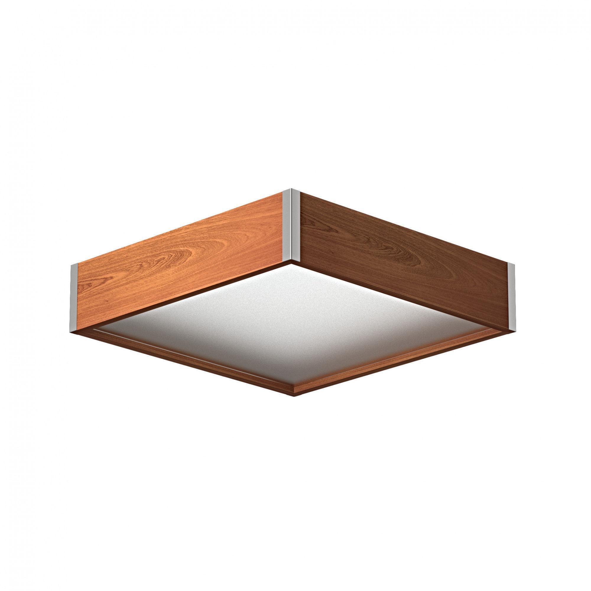 Plafon Avatar 400 1172P4 różne kolory Cleoni kwadratowa oprawa w minimalistycznym stylu