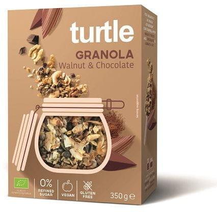 Granola orzech włoski - czekolada bezglutenowa bio 350 g - turtle