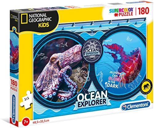 Clementoni 29205 National Geographic Kids 180 szt. puzzle - wyprawa oceanu