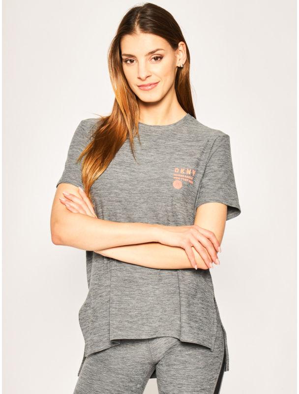 DKNY T-Shirt YI2422401 Szary Regular Fit