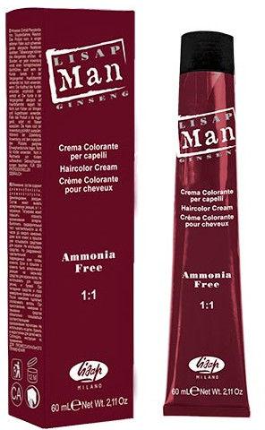 Lisap MAN farba, odsiwiacz do włosów dla mężczyzn 60ml
