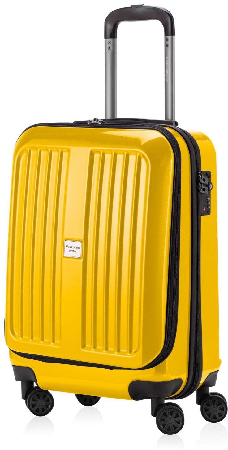 HAUPTSTADTKOFFER - XBERG  walizka z twardą obudową na kółkach  w trzech rozmiarach (S, M, L), żółty (żółty) - 128079562