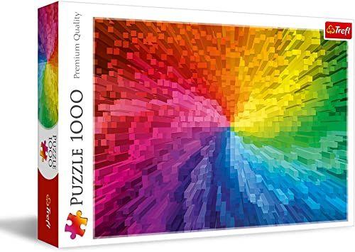 Trefl - Gradient - 1000 Elementów, Kolorowe Puzzle, Tęczowe Kolory, Płynne Przejście Kolorów, Układanka DIY, Kreatywna Rozrywka, Prezent, Zabawa, Puzzle Klasyczne dla Dorosłych i Dzieci od 12 Lat