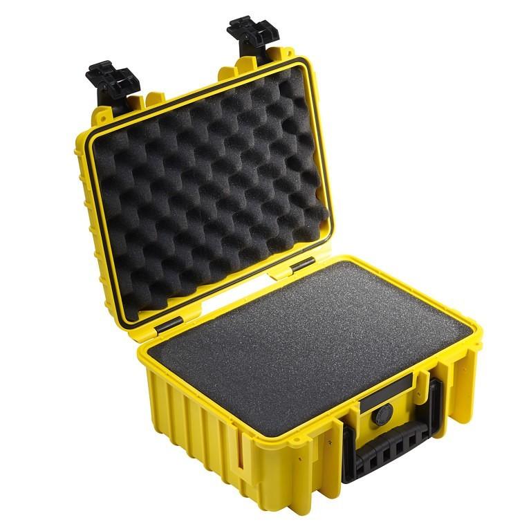 Walizka transportowa B&W outdoor.cases Typ 3000 SI z gąbką żółta