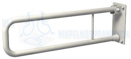 Poręcz łukowa uchylna UR5, długość 50 cm, dla niepełnosprawnych, przy WC