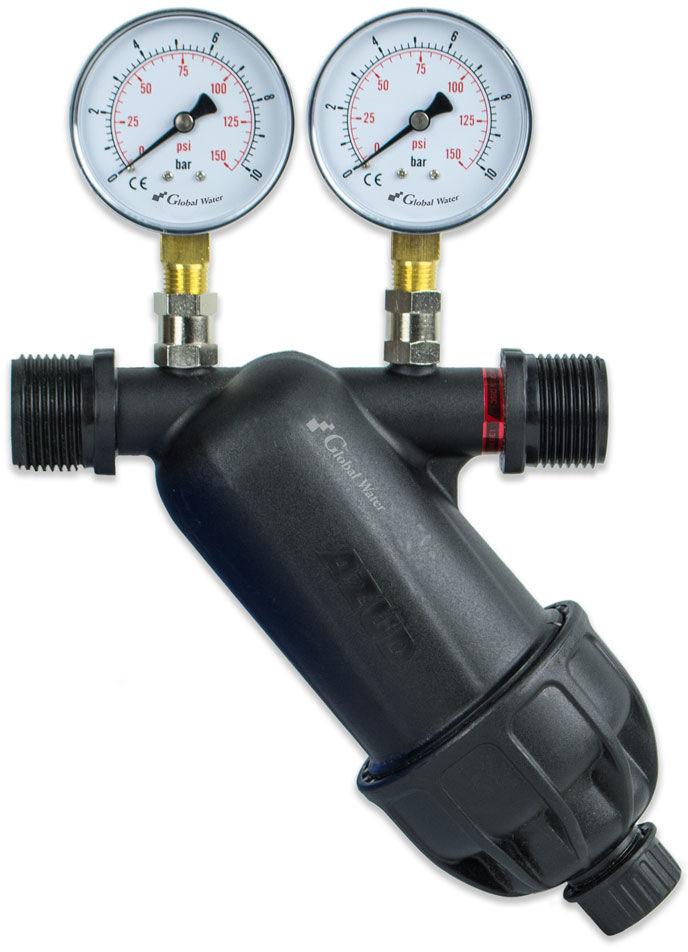 """Filtr Dyskowy AZUD 1"""" z miernikami ciśnienia"""