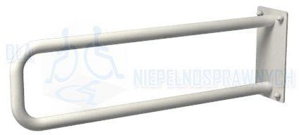 Poręcz łukowa stała UR5s, długość 50 cm, dla niepełnosprawnych, przy WC