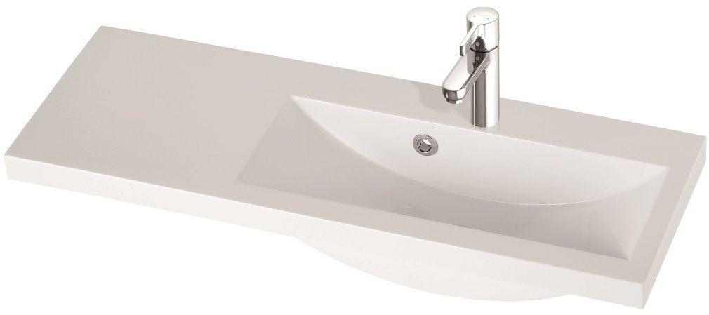 Marmorin umywalka nablatowa Talia 90P, 90 cm prawa z otworem biała 270090922011 __DARMOWA DOSTAWA__