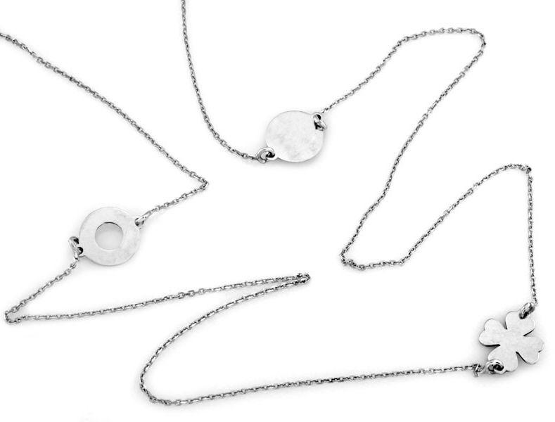 Srebrny naszyjnik 925 celebrytka długi łańcuszek 70 cm
