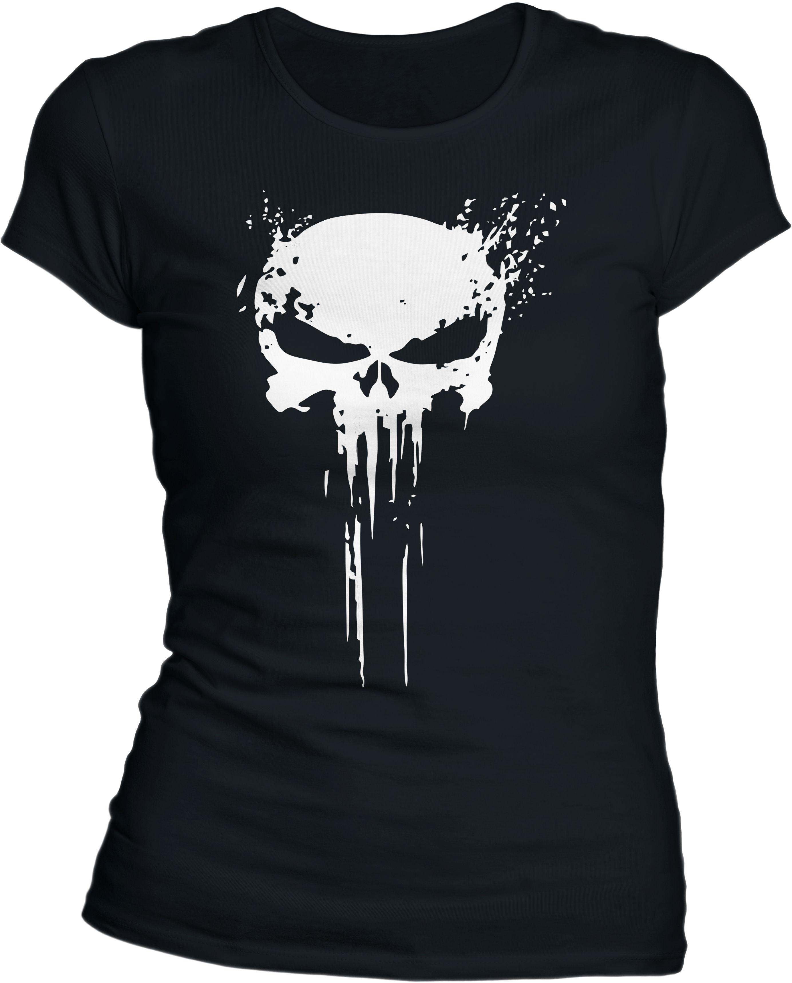 Koszulka T-Shirt damska TigerWood Punisher Black