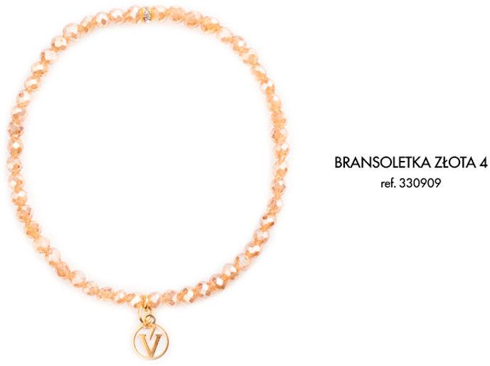 Bransoletka z Logo Victoria Vynn - szampańskie złoto 4