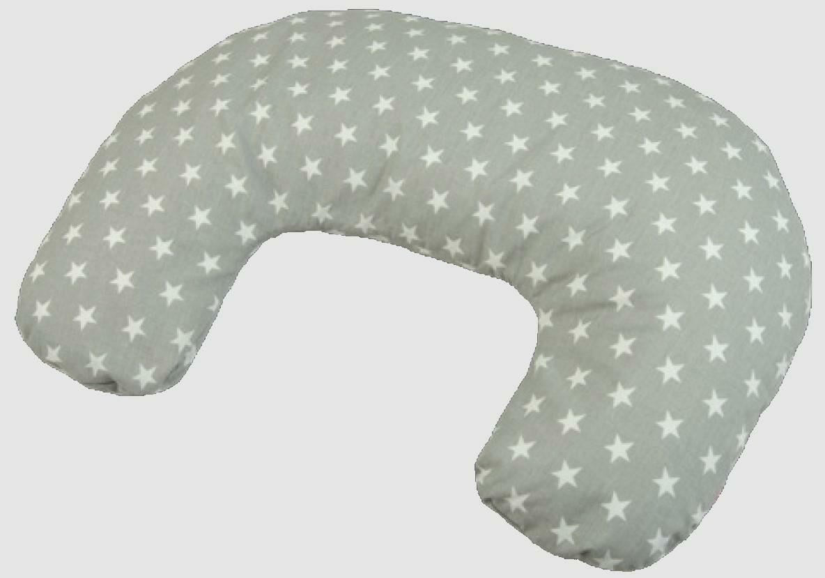 Poduszka pozycjonująca mini Relax rogal 140cm szara gwiazdki R-32