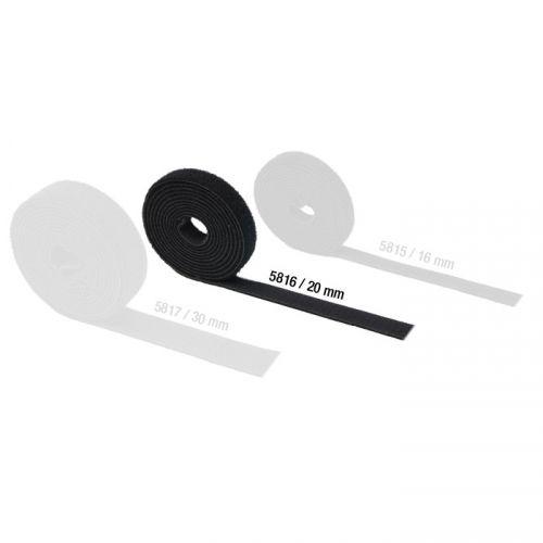 Adam Hall Hardware 5816 - Taśma rzepowa, dwustronna, szerokość: 20 mm