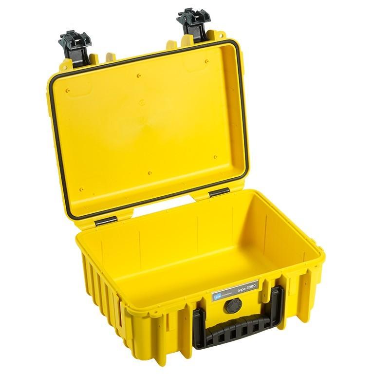 Walizka transportowa B&W outdoor.cases Typ 3000 bez wypełnienia żółta