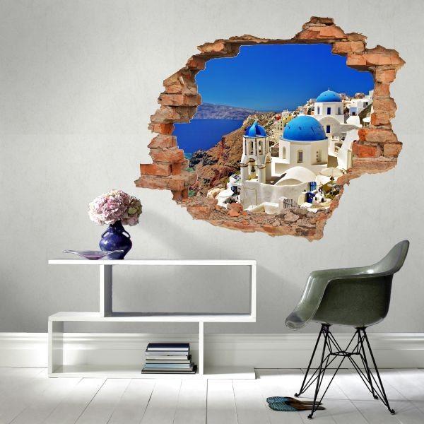 Naklejka dziura z Santorini