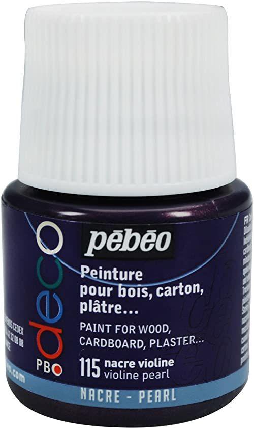 Pébéo 285115 farba tablicowa, akryl, 45 ml, skrzypce/masa perłowa