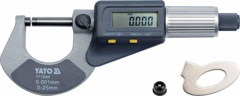 Mikrometr 0-25mm z wyświetlaczem cyfrowym Yato YT-72305 - ZYSKAJ RABAT 30 ZŁ