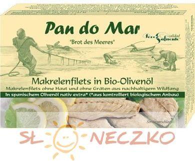 Makrela w bio oliwie z oliwek 120g Pan do Mar