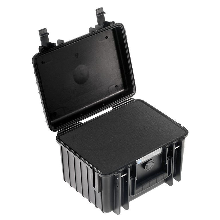 Walizka transportowa B&W outdoor.cases Typ 2000 SI z gąbką Czarna