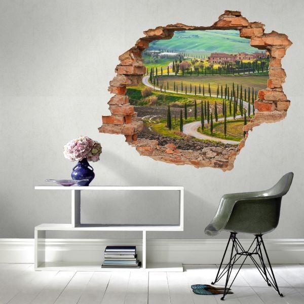 Naklejka dziura z Toskanią
