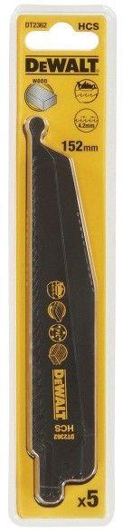 zestaw 5 szt. brzeszczotów bagnetowych HCS do piły szablastej, do drewna 6 zębów/cal, długość 152 mm, Dewalt [DT2362-QZ]