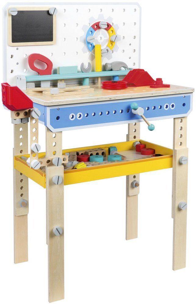 Duży warsztat z narzędziami dla dzieci Koło zębate z tablicą imadłem hakiem, mały majsterkowicz