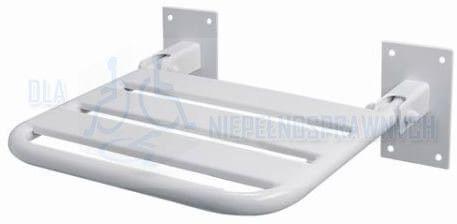 Krzesełko prysznicowe uchylne bez podpór, KP6, dla niepełnosprawnych, mocowane do ściany, przy prysznicu