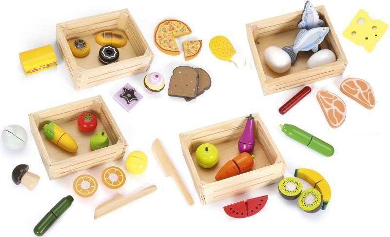 Zestaw drewnianych artykułów spożywczych Skrzyneczki rozmaitości