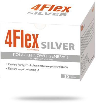 4 Flex Silver kolagen nowej generacji z witaminą D i wapniem 30 saszetek